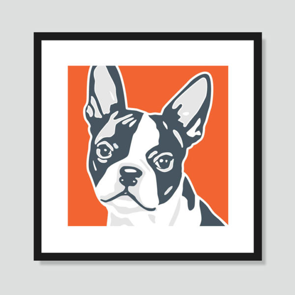 Boston Terrier Art Poster