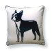 Boston Terrier Pillow – back