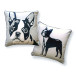Boston Terrier Pillow – front/back
