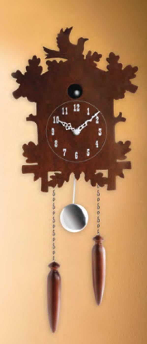 Modern Cutout Cuckoo Clock Naked Decor