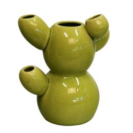 green cactus pod vase