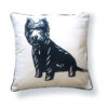 West Highland Terrier Pillow - back