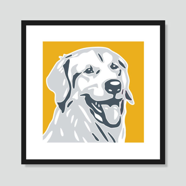Golden Retriever Art Poster
