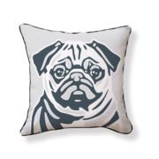 Pug Pillow - front